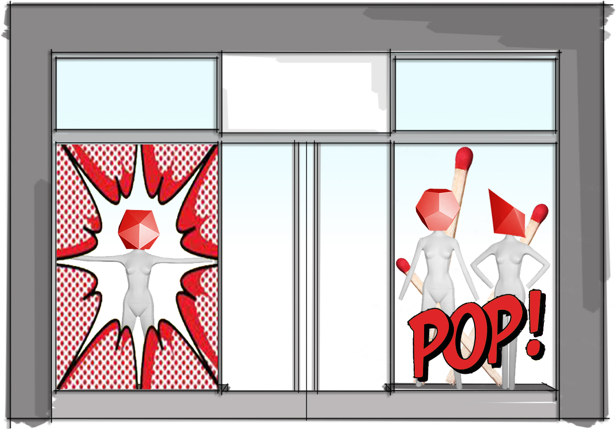 Window Display Pop Art Pop Out A View From Different